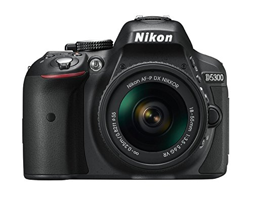Nikon D5300 DSLR Camera with AF-P DX NIKKOR 18-55 mm f/3.5-5.6 G VR Lens (Black)