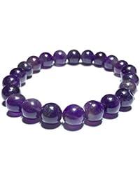 Aeora : Amethyst Bead Bracelet,8mm Bead Bracelet For Daily Wear/office Wear/party Wear,Natural Gem/Semi Precious...