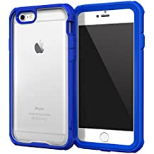 iPhone 6 fundas carcasa caso Case, roocase [Glacier TOUGH] iPhone 6 (4.7) Hybrid Scratch Resistant Clear PC / TPU Armor Full Body Protection Case Cover with Built-in Screen Protector for Apple iPhone 6 4.7, Palatinate Blue