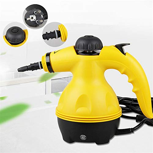 SHELLTB Dampfreiniger Haushaltsreiniger Mehrzweck-Handheld-Elektro-All-in-One-Desinfektionsmittel-Küchen-Teppichboden,Yellow