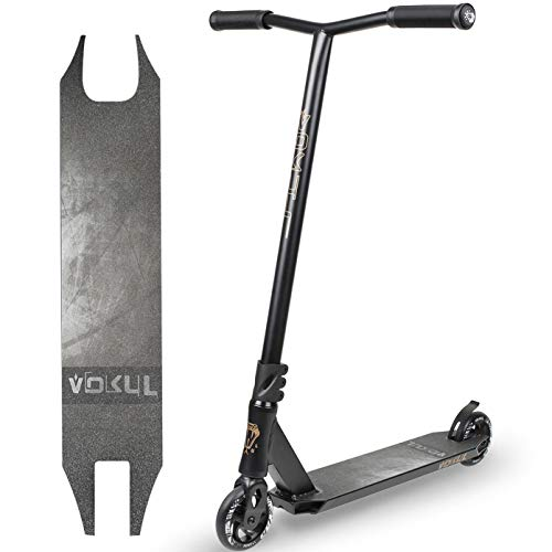 VOKUL BZIT K1 Pro Stunt Scooter - Freestyle Tretroller mit 110mm PU Wheels, Erwachsene & Kinder (Schwarz)