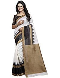 Sarees (Women's Clothing Saree For Women Latest Design Wear Sarees New Collection In WHITE Coloured BHAGALPURI...