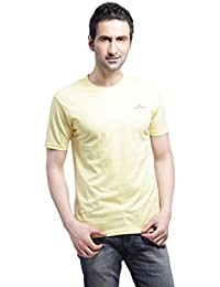 Crosscreek Casual Baby Yellow Solid T-Shirt - 910016