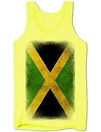 Homme Débardeur Décolleté Drapeau Jamaïcain