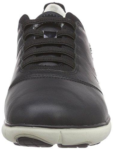 Geox D Nebula C, Sneakers Basses femme Schwarz (BLACKC9999)