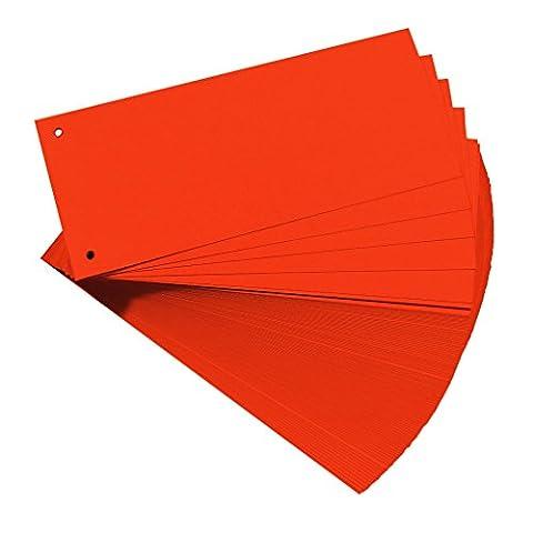 Falken Premium Karton-Trennstreifen 10,5 x 24 cm 100er Pack orange Trennlaschen Trennblätter Ordner Register Blauer Engel