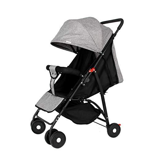 Der Kinderwagen, Der Das Tragbare Ultraleichte Multifunktionsregenschirmauto Stützt, Kann Kindbaby-Vierradlaufkatzegrau Sitzen