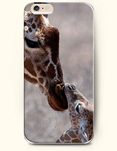 OOFIT Apple iPhone 6 Case 4.7 Inches - Mother Giraffe Kissing its baby
