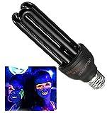TEKSHOPPING® Lampe UV-Lampe Fassung E27 Licht WOOD Lampe 28 W für DJ-Entkämpfer Schwarz Licht Neon 220 V