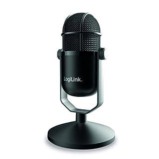 LogiLink HS0048 USB HD Mikrofon in Studio-Qualität Schwarz