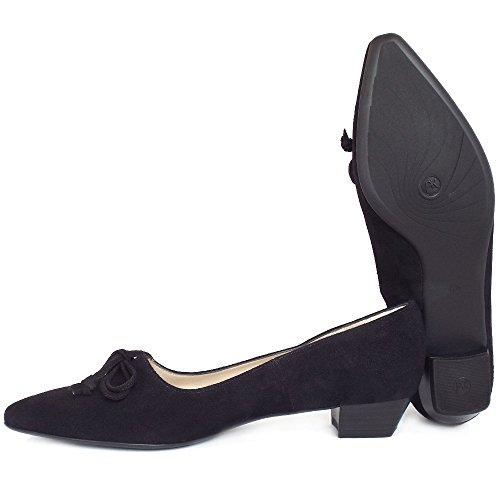 Peter Kaiser Lizzy Fait Talons Bas Chaussures En Daim Noir Daim Noir