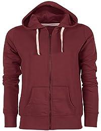 YTWOO Damen Kapuzenjacke aus Bio-Baumwolle Mix mit Reißverschluss, Damen  Kapuzenpullover Bio - Kapuzensweater 1ca3bf96f5