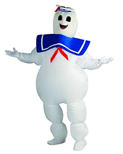 Ghostbuster Kostüm Marshmallow Man (Stay Puft Marshmallow Man Kostüm als lizenzierte Ghostbusters Verkleidung für Halloween)