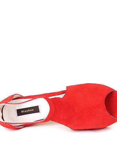 LFNLYX Scarpe Donna Felpato A stiletto Spuntate Sandali Formale Nero/Rosso Black
