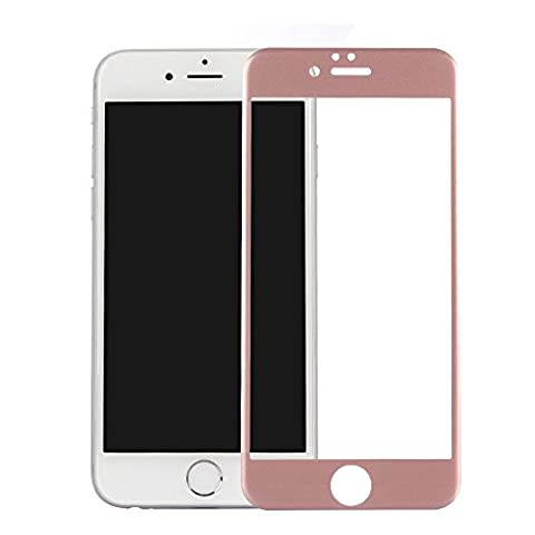 NWNK13® iPhone Series Full Covered Carbon Fiber Screen Protector Toughed 9H HD Film Tempered Glass [ Pls Select Your Model From Selection List ] (iPhone 7 [4.7'' inch], Rose