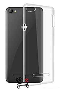 Jkobi® Exclusive Soft Silicone TPU Jelly Crystal Clear Case Soft Back Case Cover For Reliance Jio LYF Wind 1 -Transparent