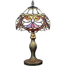 Gweat 8 pollici vintage di lusso Fiore cintura nera Tiffany Lampada da tavolo Lampada da comodino Desk Lamp Lampada per bambini