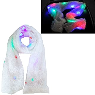 Aoneky Fashion Winter Light Up Scarf - Glow Blink Clothing Accessories with Flashing Colorful LED Lights for Boys Girls Birthday, Party, Christmas