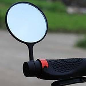 Bicicletta Specchio Cyclop–SPECCHIETTO RETROVISORE PER BICICLETTA/E di Bike/Scooter/CICLOMOTORE/Sedia a rotelle/Deambulatore/passeggino/Golf Cart con collo di cigno (Specchio Dimensioni: 28cm * 8* 0.6, Tubo montaggio,)