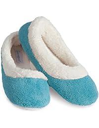 PajamaGram - Zapatillas de estar por casa para mujer - Forro polar ultrasuave