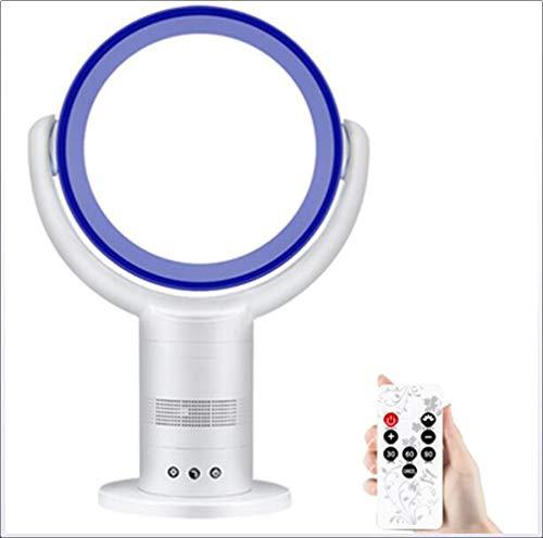 ANGsun Geräuschloser Blattloser Lüfter, Desktop-Lüfter Für Zu Hause Mit Fernbedienung Und 3-Gang-3-Wind-Modus, Lüfter (25 * 60 cm) 10 * 23,6 Zoll