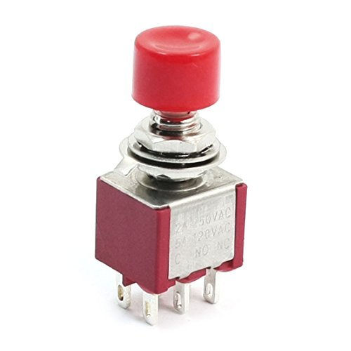 PS821M1 Momentary Red Push Button Switch DPDT AC250V 2A 120V 5A -