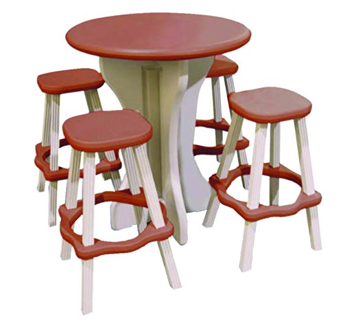 QCA Spas LAPT30R Tisch, rund, 76,2 cm, Rot -