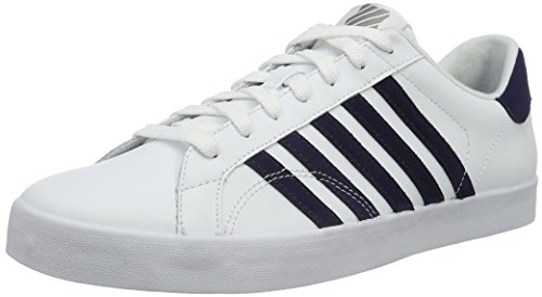 K-Swiss Belmont So, Baskets Basses Homme Blanc (White/Eclipse/Neutral Gray 131)