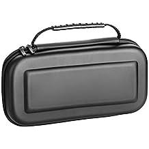 LUZWAY Étui Pour Nintendo Switch,Nintendo Switch EVA Housse,20 Emplacements Pour Cartes,Version Améliorée d'Étui de Transport Rigide avec Espace de Stockage Plus Large pour Voyage, Transporter. Sac pour la Console Nintendo Switch et ses Accessoires
