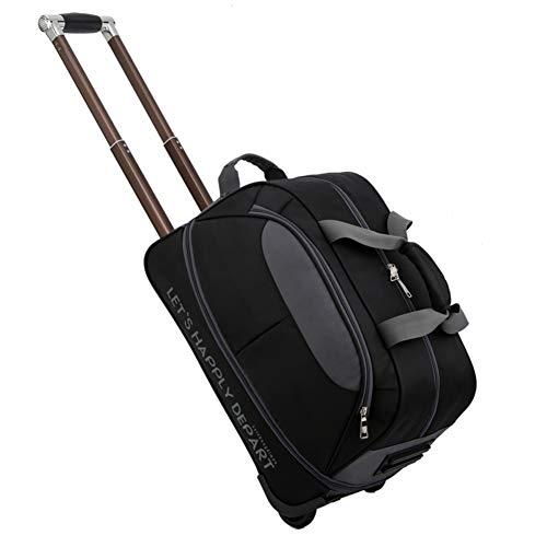Getrichar trolley morbido bagaglio a mano - valigia trolley morbido in tessuto con rotelle girevoli - trolley per pc portatili - cabina da viaggio leggero - adatto a viaggi all'aperto