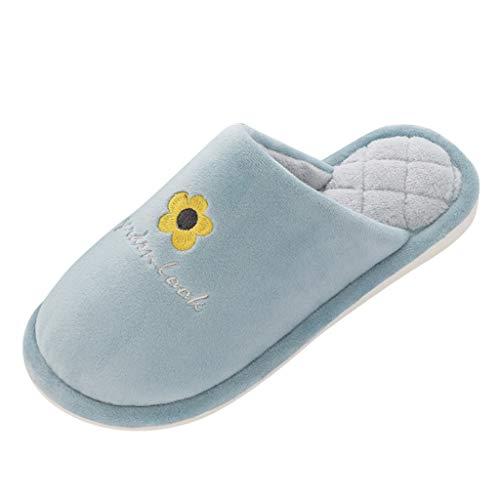 Watopi Herren & Damen Home rutschfeste Slippers Memory Foam Hausschuhe Frottee Gefütterte Antirutsch Pantoffeln