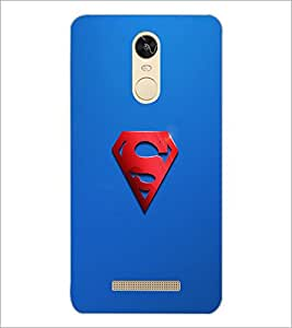 PrintDhaba Superman Logo D-2447 Back Case Cover for XIAOMI REDMI NOTE 3 (Multi-Coloured)
