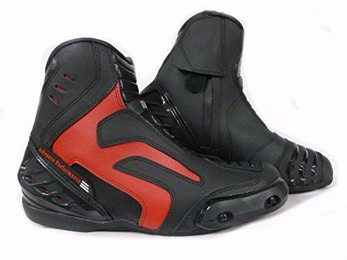 Stivali da Moto Racing XTRM X1016 EAGLE PADDOCK Avvio Stivale touring, Stivaletti Urban, Scarpe da turismo (EU 42, Rosso)
