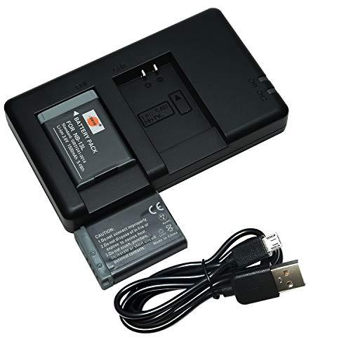 DSTE 2PCS NB-13L(1500mAh/3.6V) Batterie Chargeur Compatible pour Canon PowerShot SX740 HS,G5X,G7X,G9X,G5X Mark II,G7X Mark II,G9X Mark II,SX720 HS,SX620 HS Digital Caméra