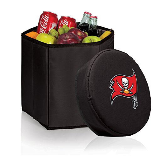 Picnic Time NFL Tampa Bay Buccaneers Bongo isoliert klappbar Kühler, schwarz