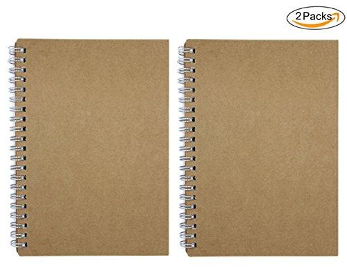 Daily Kalender Block (cuddty Vintage Kraft Cover zu Planer Akademischer Zeitmanagement Spirale Notebook um Ziele & leistungssteigernd Agenda Notebook, 20x 14cm, 2Stück)