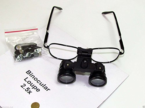 KASHSURG DENTAL/MEDICAL/SURGICAL/OPTICAL Binocular Loupe 3.5x in Case