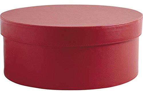 PEGANE Boite de Rangement en Polyuréthane Coloris Bordeaux, Ø 33 h 13,5 cm