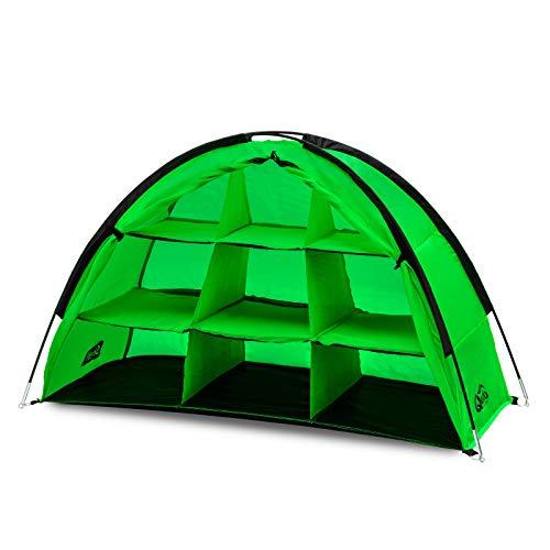 Qeedo Shelf Campingschrank, 120 x 70 x 50, Faltbar,schneller Aufbau, Farbe Grün