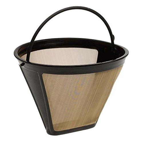 binglinghua Permanent Gold Ton Konus Tasse Kaffee Filter behandelt Edelstahl Mesh Korb Style Sieb
