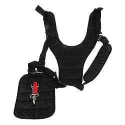Magideal Black Strimmer Double Shoulder Harness Strap For Brush Cutter & Trimmer