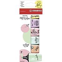 STABILO BOSS MINI Pastellove Mini Marcador, Colores Surtidos, Pack de 6