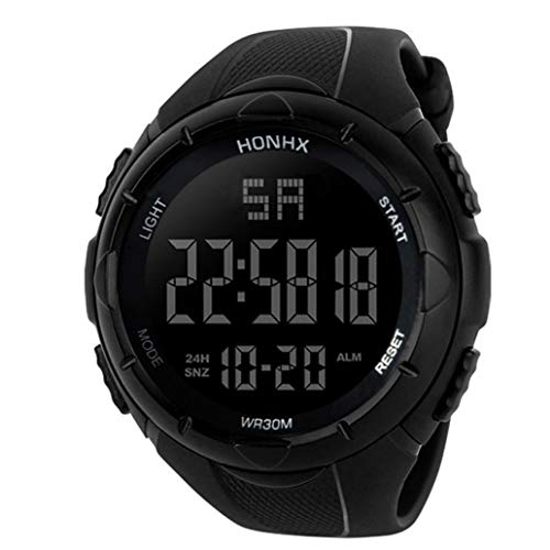Armbanduhr Herren Sport Digitaluhren Wasserdicht Chenang Sportuhr mit Timer Military Armbanduhren Hintergrundbeleuchtung Uhren für Lauf Mann-Analog-Digital-Militärarmee-Sport-LED -
