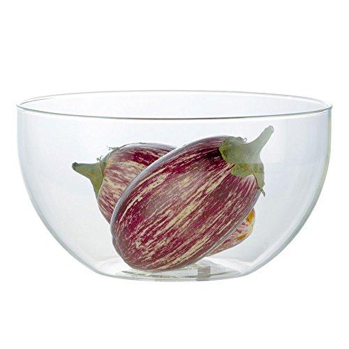 Jenaer Glas 4 L Salatschüssel, Glas, transparent, 26.5 x 26.5 x 14.5 cm 4 Gläser