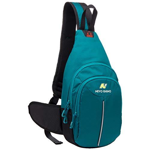 Neusky wasserdichte Slingbag Bodybag Schultertasche, Schulter Brusttasche für Herren Damen und Kinder (Dunkelgrün-N) -
