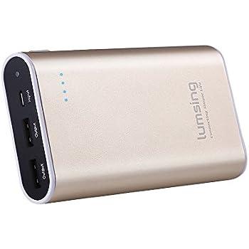 Lumsing Power Bank Grand A1 Mini 10050mAh 2-Port Externe Akku für iPhone Samsung S6 Edge HTC Smartphones Tablets Gold