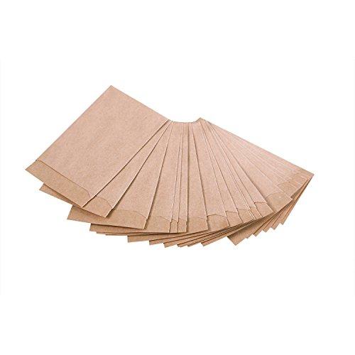 Teebeutel Buch-tee-100 Das (100 braune kleine Kraftpapier-Tüten Mini-Tüten Papiertüten 5,3 x 7,8 cm Verpackung Kleinteile Globuli Tabletten Blumensamen Pillen Sterne basteln an Weihnachten)