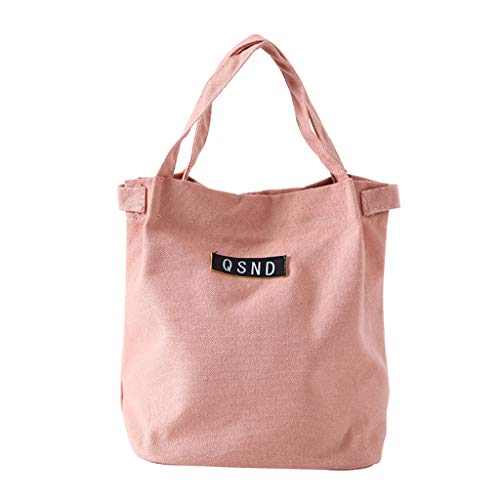 KonJin Klein Leicht Lunch Tasche Multifunktionale tragbare Lunchpaket isoliert Lunchbox Tasche Leinwand Volltonfarbe Handtasche