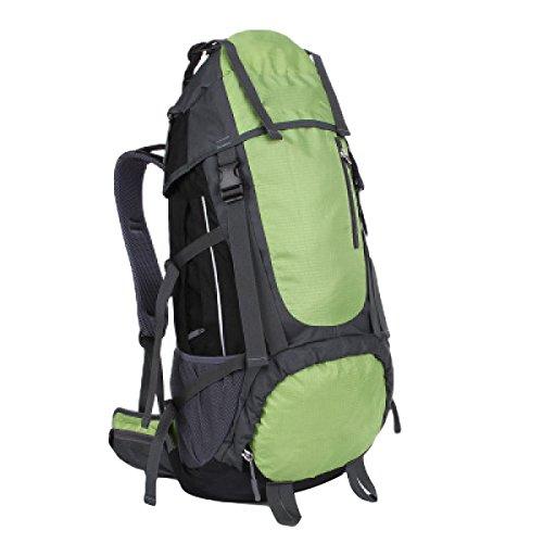 55L Outdoor Trekking Zaino Borse Di Grandi Dimensioni Capacità Di Alpinismo Zaini Uomini E Donne,Red Green