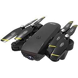 YANGSANJIN Drone avec Camera Mini Piste Atterrissage Batterie 10 Ans Professionnel Enfant Pas Cher 4k 1080P GPS Pliable Rc Drone Micro Full HD Stabilisé, Black
